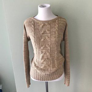 Vintage St. Johns Bay Cable knit Crew Neck Sweater